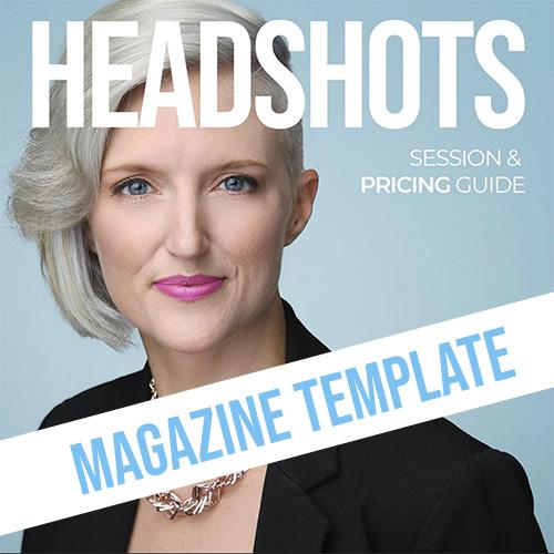 headshot magazine template