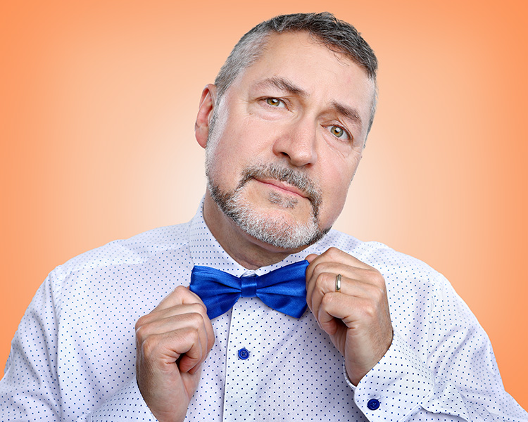 business portrait with bow tie
